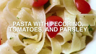 Pasta with Pecorino and Tomato