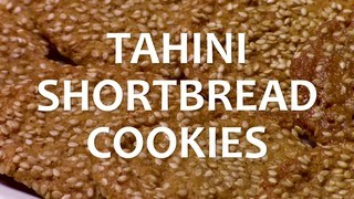 Tahini Shortbread Cookies