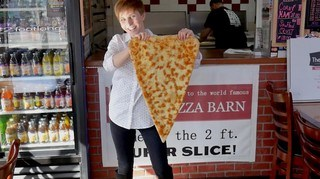 The 2-foot Super Slice of Pizza