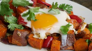 One-Pan Sweet Potato and Egg Hash